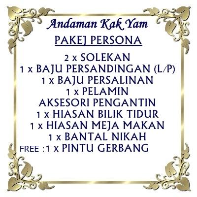 Pakej perkahwinan bermula dari RM1800